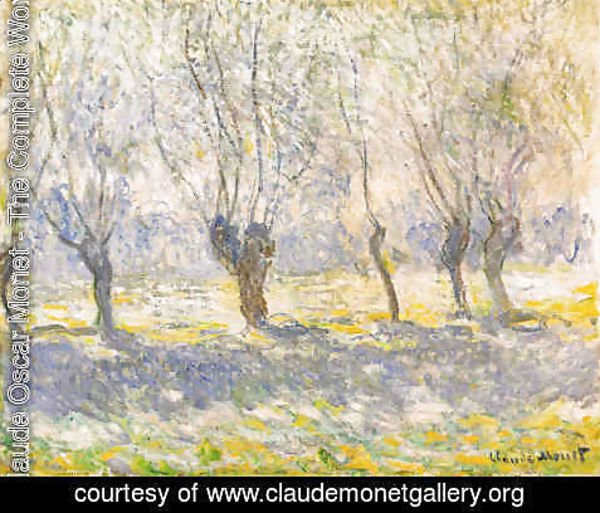Claude Oscar Monet - Willows in Giverny
