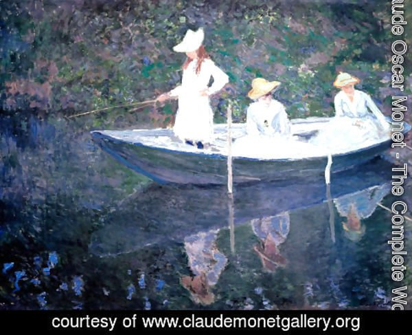 Claude Oscar Monet - The Boat at Giverny