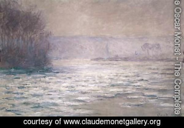 Claude Oscar Monet - Ice Floes on the Seine near Bennecourt
