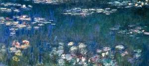 Claude Oscar Monet - Water Lilies, Green Harmony