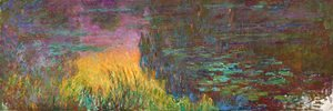 Claude Oscar Monet - Water Lilies, Sunset