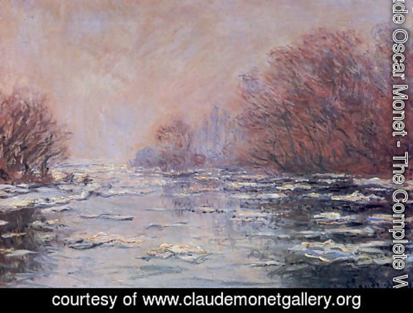 Claude Oscar Monet - River Thawing near Vetheuil
