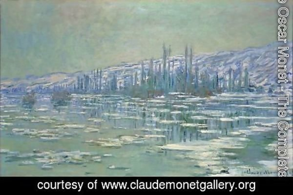 Claude Oscar Monet - Ice Floes on Siene