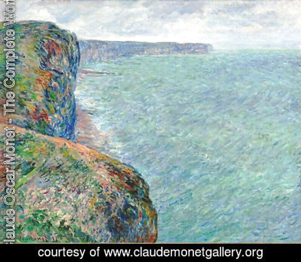 Claude Oscar Monet - The Sea Seen from the Cliffs of Fecamp