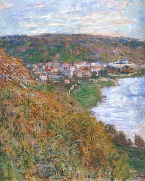 Claude Oscar Monet - View over Vetheuil