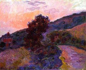 Claude Oscar Monet - Sunset at Giverny