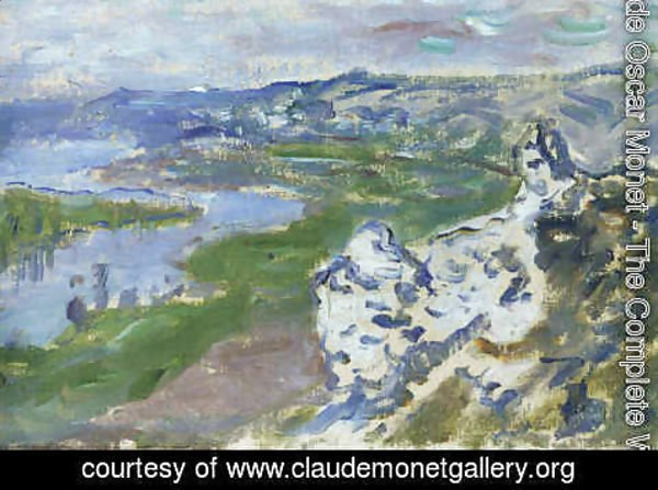 Claude Oscar Monet - The Seine, seen from the heights Chantemesle