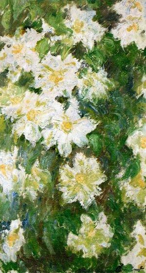 Claude Oscar Monet - White Clematis
