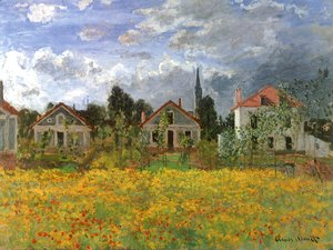 Claude Oscar Monet - Houses at Argenteuil