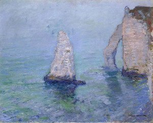 Claude Oscar Monet - The Rock Needle and Porte d'Aval, Etretat