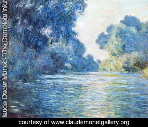 Claude Oscar Monet - Morning on the Seine at Giverny 02