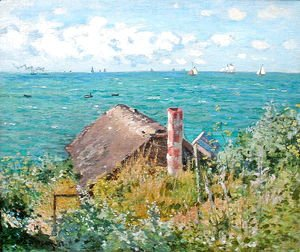 Claude Oscar Monet - The Cabin at Saint-Adresse