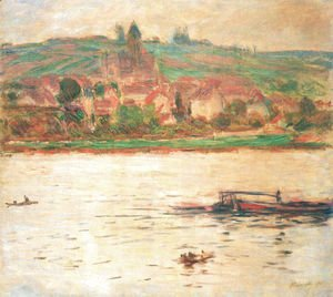 Claude Oscar Monet - Vetheuil, Barge on the Seine