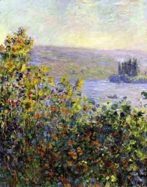 Claude Oscar Monet - Flowers Beds at Vetheuil