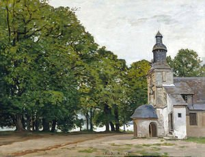 Claude Oscar Monet - The Chapel Notre-Dame de Grace at Honfleur