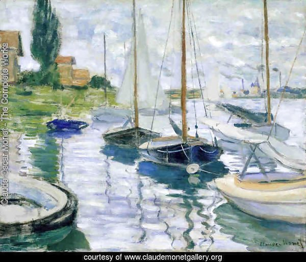 Boats at rest, at Petit-Gennevilliers