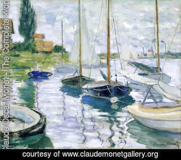 Claude Oscar Monet - Boats at rest, at Petit-Gennevilliers