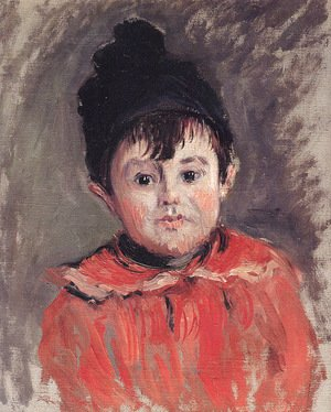 Claude Oscar Monet - Portrait of Michael with Hat and Pom Pom