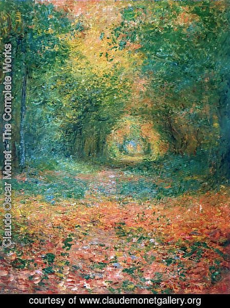 Claude Oscar Monet - The Undergrowth in the Forest of Saint-Germain