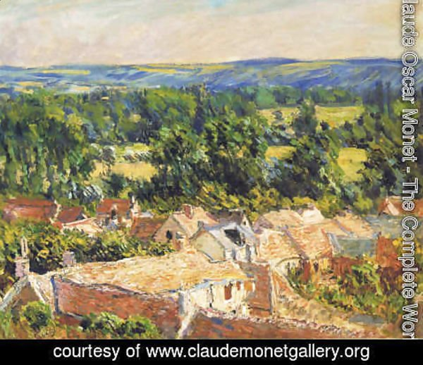 Claude Oscar Monet - View on village of Giverny