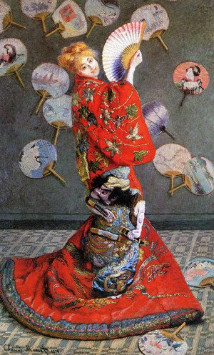 Claude Oscar Monet - Japan's (Camille Monet in Japanese Costume)