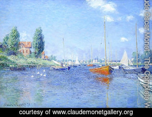 Claude Oscar Monet - Red Boats, Argenteuil, 1875 (oil on canvas)