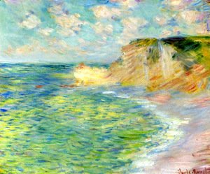 Claude Oscar Monet - Cliffs at Amont
