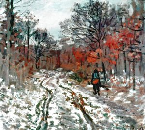 Claude Oscar Monet - Path through the Forest, Snow Effect