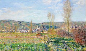 Claude Oscar Monet - Vetheuil under the Sun