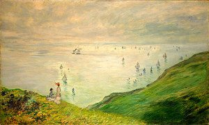 Claude Oscar Monet - Cliffs Walk at Pourville