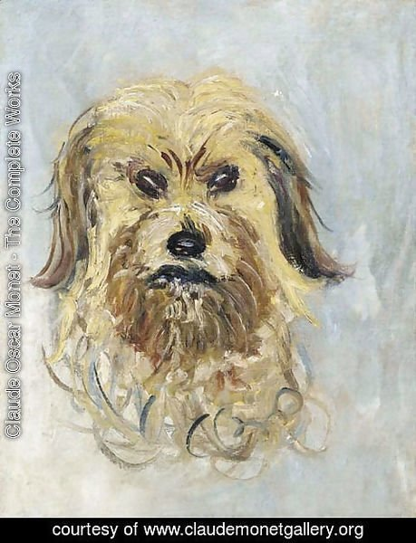 Claude Oscar Monet - Head of the Dog