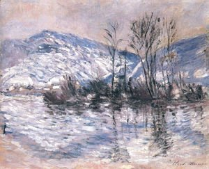 The Seine at Port Villez, Snow Effect 02
