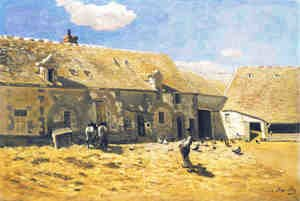Claude Oscar Monet - Farmyard at Chailly