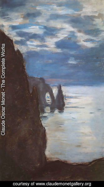 Claude Oscar Monet - Etretat, the Needle Rock and Porte d'Aval