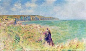 Claude Oscar Monet - Edge of the Cliff at Pourville 2