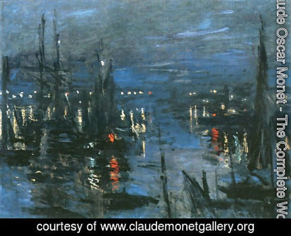 Claude Oscar Monet - The Port of Le Havre, Night Effect