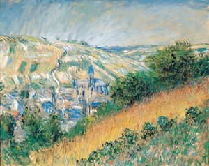 Claude Oscar Monet - View over Vetheuil 2