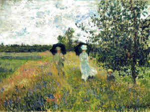 Claude Oscar Monet - The Promenade near Argenteuil