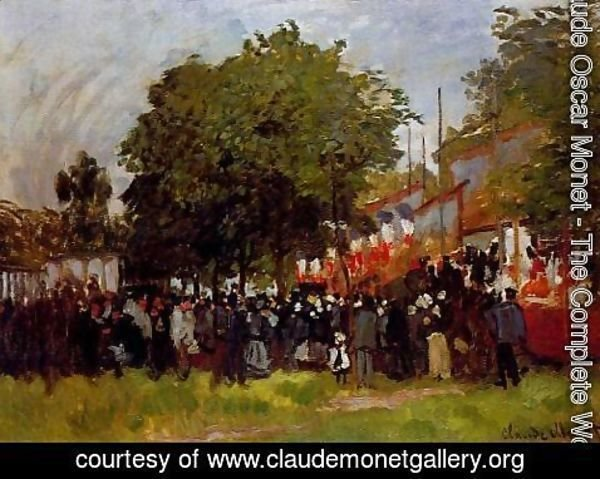 Claude Oscar Monet - Festival at Argenteuil