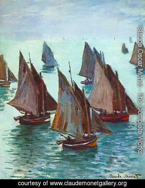 Claude Oscar Monet - Fishing Boats, Calm Sea