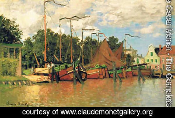 Claude Oscar Monet - Boats at Zaandam