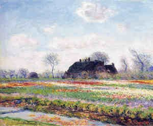 Claude Oscar Monet - Tulip Fields at Sassenheim, near Leiden