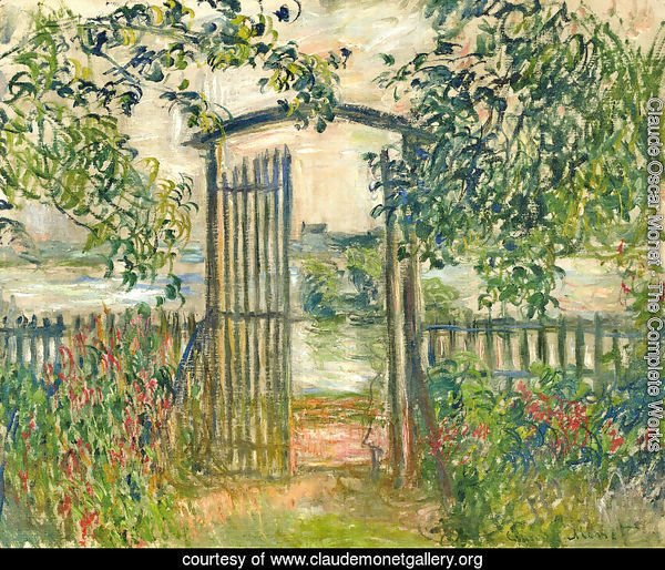 The Garden Gate At Vetheuil