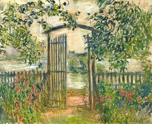 Claude Oscar Monet - The Garden Gate at Vetheuil