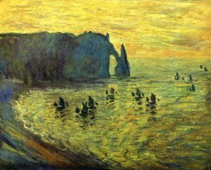 Claude Oscar Monet - The Cliffs at Etretat
