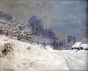 Claude Oscar Monet - The Road in front of Saint-Simeon Farm in Winter