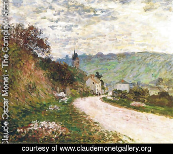 Claude Oscar Monet - The Route a Vetheuil