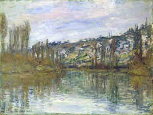 Claude Oscar Monet - The Seine near Vetheuil
