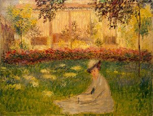 Claude Oscar Monet - Woman in a Garden