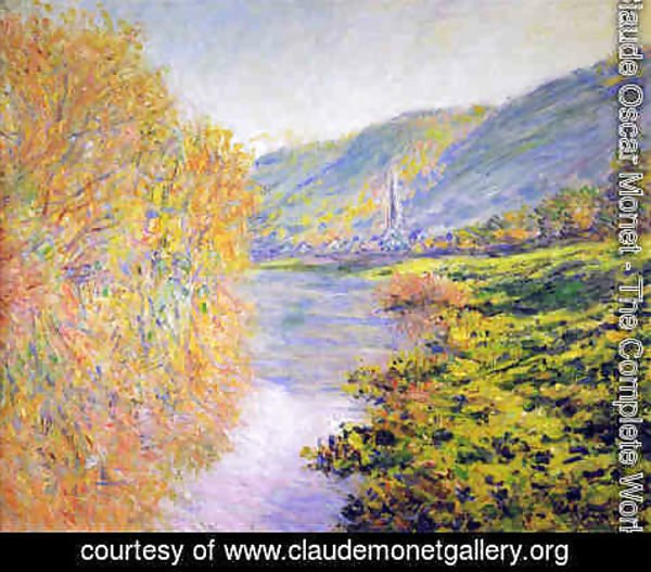 Claude Oscar Monet - Banks of the Seine at Jeufosse, Autumn